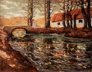 Art Prints of River Landscape by Ernest Lawson