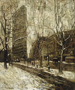 Art Prints of The Flatiron Building, New York by Ernest Lawson