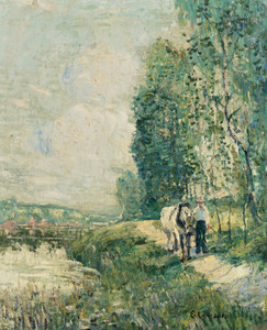 Art Prints of The Towpath by Ernest Lawson