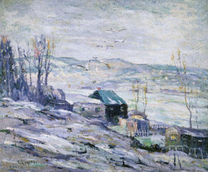 Art Prints of Windy Day, Bronx River by Ernest Lawson