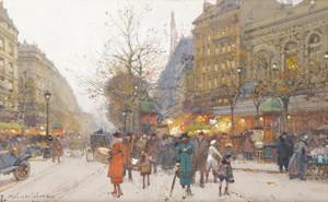 Art Prints of Boulevard of Good News by Eugene Galien-Laloue