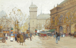 Art Prints of La Place du Chatelet by Eugene Galien-Laloue