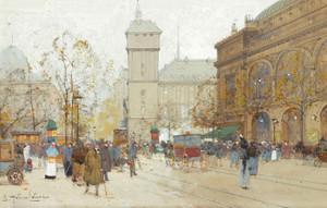 Art Prints of La Place du Chatelet by Eugene Galien-Laloue