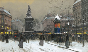 Art Prints of La Place de Clichy, Paris by Eugene Galien-Laloue