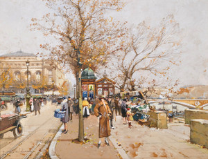 Art Prints of La Place du Chatelet a Paris by Eugene Galien-Laloue