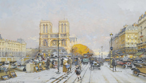 Art Prints of Notre Dame by Eugene Galien-Laloue