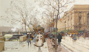 Art Prints of Louvre by Eugene Galien-Laloue