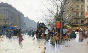 Art Prints of Paris, the Grand Boulevard by Eugene Galien-Laloue