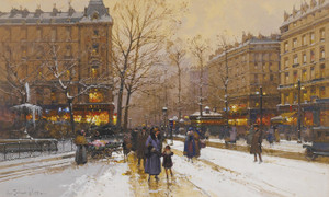 Art Prints of Paris in the Snow by Eugene Galien-Laloue