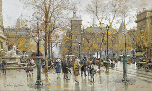 Art Prints of Place du Chatelet by Eugene Galien-Laloue