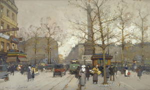 Art Prints of Place de la Bastille II by Eugene Galien-Laloue