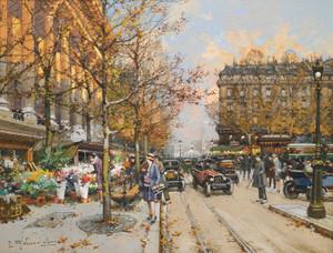 Art Prints of Place de la Madeleine by Eugene Galien-Laloue