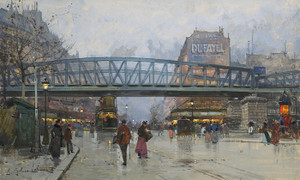 Art Prints of The Metro, Paris by Eugene Galien-Laloue