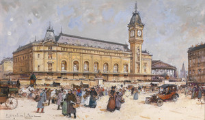 Art Prints of Gare de Lyon by Eugene Galien-Laloue