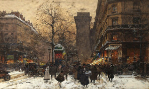 Art Prints of Paris, Porte Saint Martin by Eugene Galien-Laloue