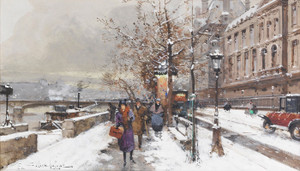 Art Prints of Quai d'Orsay by Eugene Galien-Laloue