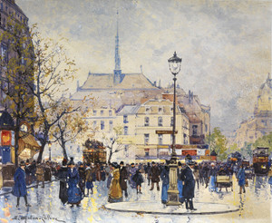 Art Prints of Strassenszene or Street Scene by Eugene Galien-Laloue
