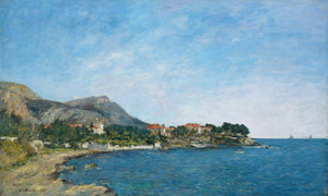Art Prints of The Bay of Fourmis by Eugene Boudin