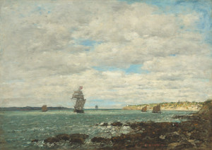 Art Prints of Coast of Brittany by Eugene Boudin