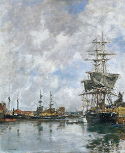 Art Prints of Deauville Port by Eugene Boudin