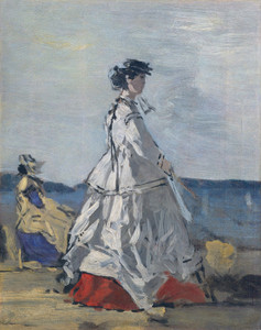 Art Prints of The Princess Pauline de Metternich on the Beach by Eugene Boudin