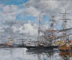 Art Prints of Le Bassin de Deauville by Eugene Boudin