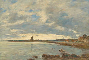 Art Prints of Saint Vaast la Hougue by Eugene Boudin