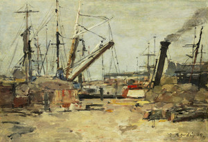 Art Prints of The trawlers by Eugene Boudin
