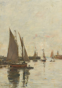 Art Prints of Trouville, High Tide by Eugene Boudin