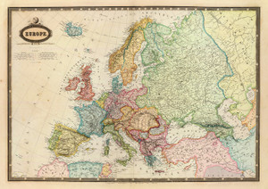 Art Prints of Europe, 1862 (5023021) by F.A. Garnier