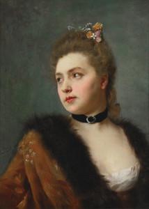 Art Prints of Portrait of a Lady by Federico Zandomeneghi
