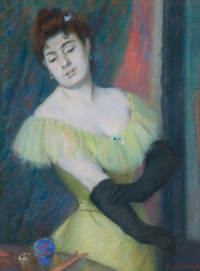 Art Prints of The Black Gloves by Federico Zandomeneghi