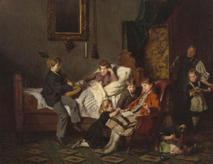Art Prints of Entertaining the Convalescent by Felix Schlesinger