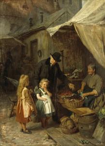 Art Prints of At the Market by Felix Schlesinger