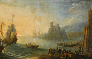 Art Prints of An Extensive Port, Flemish School