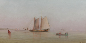 Art Prints of Misty Morning in New York Bay by Francis Augustus Silva