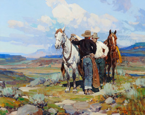 Art Prints of Conversation on the High Plains by Frank Tenney Johnson