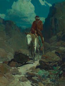 Art Prints of Through the Night by Frank Tenney Johnson