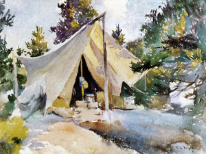 Art Prints of Henry's Tent, North Haven, Maine by Frank Weston Benson