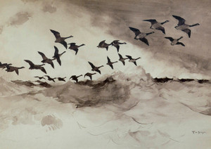 Art Prints of Canadian Geese in Flight by Frank Weston Benson