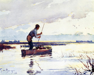 Art Prints of The Punter by Frank Weston Benson
