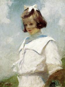 Art Prints of Portrait of Elisabeth by Frank Weston Benson