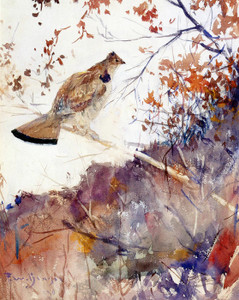Art Prints of Grouse in Autumn by Frank Weston Benson