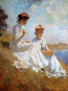 Art Prints of Elisabeth and Anna, or In Summer by Frank Weston Benson