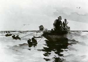 Art Prints of Hunters Setting Decoys by Frank Weston Benson