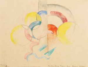 Art Prints of Abstract Watercolor I by Franz Marc