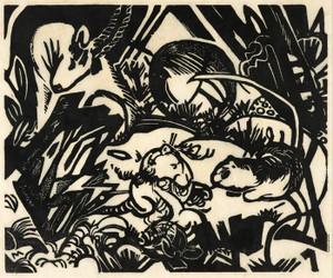 Art Prints of Animal Legend by Franz Marc