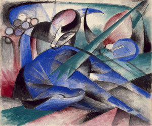 Art Prints of Dreaming Horse by Franz Marc
