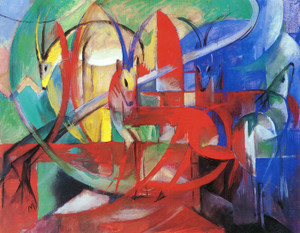 Art Prints of Gazellen by Franz Marc