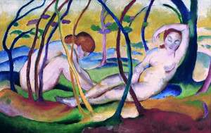Art Prints of Nudes Under Trees by Franz Marc